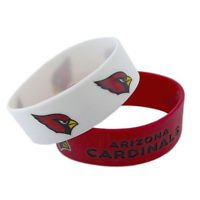 Arizona Cardinals Rubber Bracelets 2 Pack Silicone Wristbands OSFM Licensed New