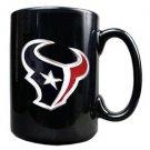 NFL Houston Texans 15oz Black Ceramic Mug Handcrafted Emblem Coffee Licensed New