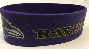 NFL Baltimore Ravens Rubber Silicone Bracelet Purple Licensed New OSFM