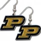 Purdue Boilermakers Dangle Earrings Hand Colored Enameled Logo Nickel Free