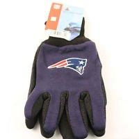 New England Patriots Sport Garden Utility Grip Gloves Work Winter 2Tone Licensed