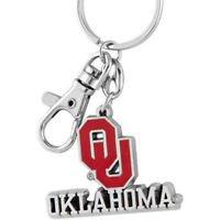 NCAA Oklahoma Sooners Metal Heavyweight Keychain Keyring Lobster Claw Authentic