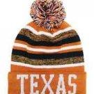 Texas City Beanie Color PomPom Hat Winter Knit w POM Ribbed Cuff