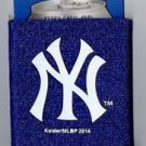 MLB New York Yankees Football Can Koozie Coozie Drink Holder New Navy Glitter