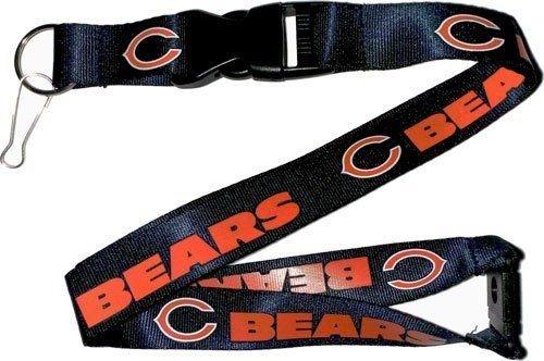 NFL Chicago Bears Lanyard Keychain Keyring Badge Holder Licensed Breakaway