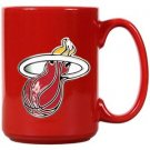 NBA Miami Heat 15oz Red Ceramic Mug Handcrafted Emblem Coffee Licensed New