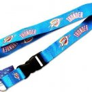 NBA Oklahoma City Thunders Lanyard Keychain Keyring Badge Holder Licensed