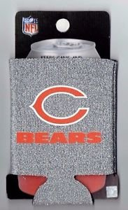 NFL Chicago Bears Glitter Football Can Koozie Coozie Drink Holder Authentic New