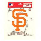 "San Francisco Giants Vinyl Car Auto Truck Window Decal Sticker 5.75"" x 7.75"" New"