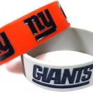 New York Giants Rubber Bracelets 2 Pack Silicone Wristbands OSFM Licensed New