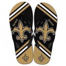 New Orleans Saints NFL Unisex Big Logo Flip Flops Size Large High Quality