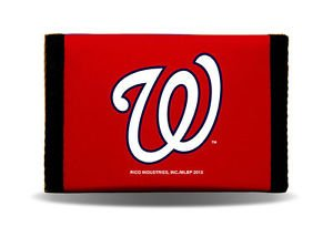 MLB Washington Nationals Nylon Trifold Kids Wallet Velcro Great Gift Licensed