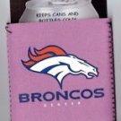 NFL Denver Broncos Pink Can Bottle Koozie Coozie Drink Holder Authentic New