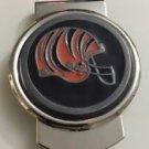 NFL Cincinnati Bengals Stainless Steel Money Cash Clip Holder Authentic New