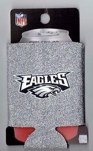 NFL Philadelphia Eagles Glitter Football Can Koozie Coozie Drink Holder New