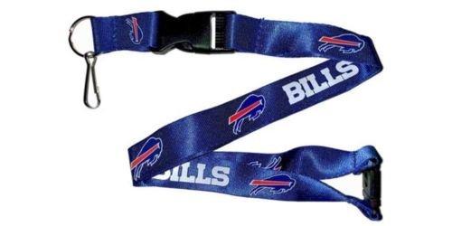 NFL Buffalo Bills Lanyard Keychain Keyring Badge Holder Licensed Breakaway