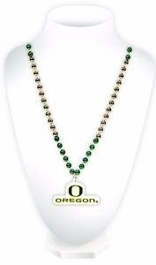 NCAA Oregon Ducks Sport Bead w/ Medallion Mardi Gras Necklace Licensed New