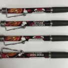 NBA Chicago Bulls Click Retractable Ballpoint Pens Soft Rubber Grip Pack OF 4