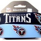 Tennessee Titans Rubber Bracelets 2 Pack Silicone Wristbands OSFM Licensed New