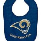 NFL St. Louis Rams Baby Bib Shower Gift Navy Infant Toddler Licensed New