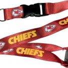 NFL Kansas City Chiefs Lanyard Keychain Keyring Badge Holder Licensed Breakaway