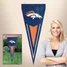 Denver Broncos Yard Pennant Flag Banner Applique Embroidered Outdoor New License