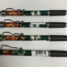 NBA Boston Celtics Click Retractable Ballpoint Pens Soft Rubber Grip Pack OF 4