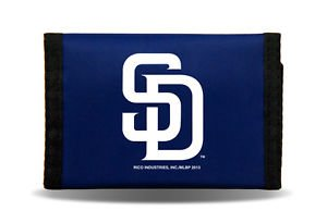 MLB San Diego Padres Nylon Trifold Kids Wallet Velcro Great Gift Licensed New