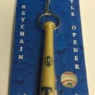 MLB Texas Rangers Bat Keychain Keyring With Bottle Opener Authentic New