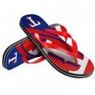 Texas Rangers MLB Unisex Big Logo Flip Flops Size X-Small High Quality