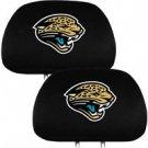 NFL Jacksonville Jaguars Auto Car Head Rest Covers - Set of 2 - Embroidered