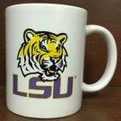 NCAA LSU Tigers White Ceramic Coffee Mugs Cups 12OZ w Handle Authentic New