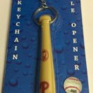 MLB Philadelphia Phillies Bat Keychain Keyring With Bottle Opener Authentic New