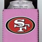 San Francisco 49ers Pink Can Bottle Koozie Coozie Drink Holder Authentic New