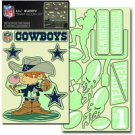 Dallas Cowboys Glow In The Dark Decal Set Lil Buddy 20 Pieces Great Room Decor
