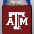 Texas A&M Aggies Football Can Bottle Koozie Coozie Drink Holder Authentic New