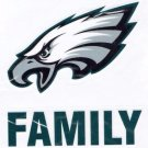 Philadelphia Eagles Die Cut Family Decal Vinyl Sticker Windshield Window New