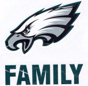 Philadelphia Eagles Die Cut Family Decal Vinyl Sticker Windshield Window New
