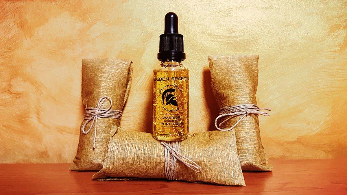 Beard Oil Warrior Pure Gold - The Golden Spartan