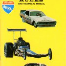 AHRA rule book 1975 Drag Racing car construction and safety rules Modelers Car Restorers