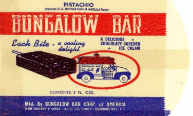 Bungalow Bar pistachio ice cream bar bag chocolate covered New York truck sales