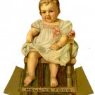 Mellin's Food Victorian trade card baby die cut stand up