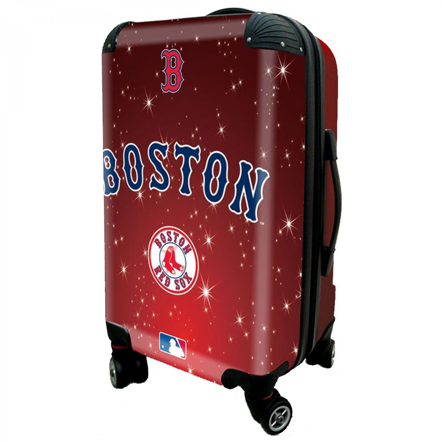 """Boston Red Sox, 21"""" Clear Poly Carry-On Luggage by Kaybull #BOS10"""