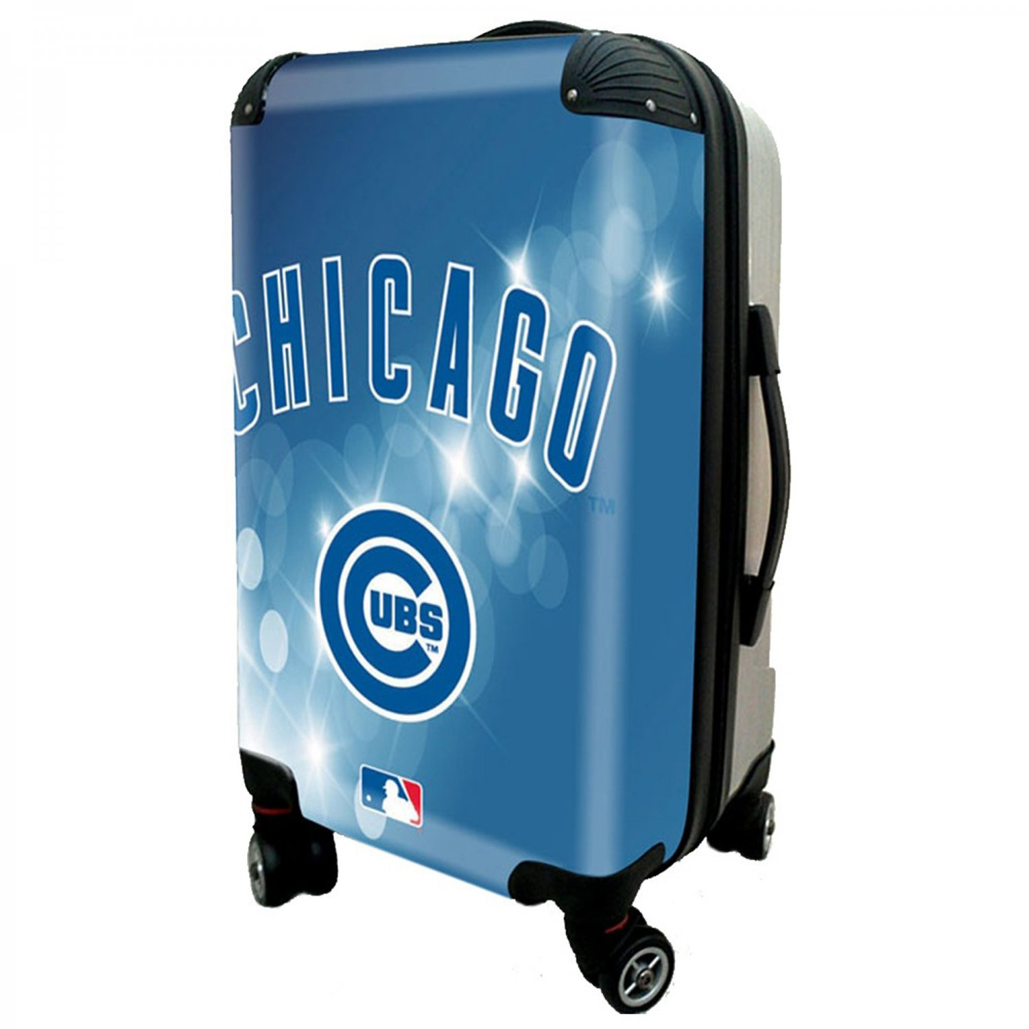 """Chicago Cubs, 21"""" Clear Poly Carry-On Luggage by Kaybull #CUB10"""