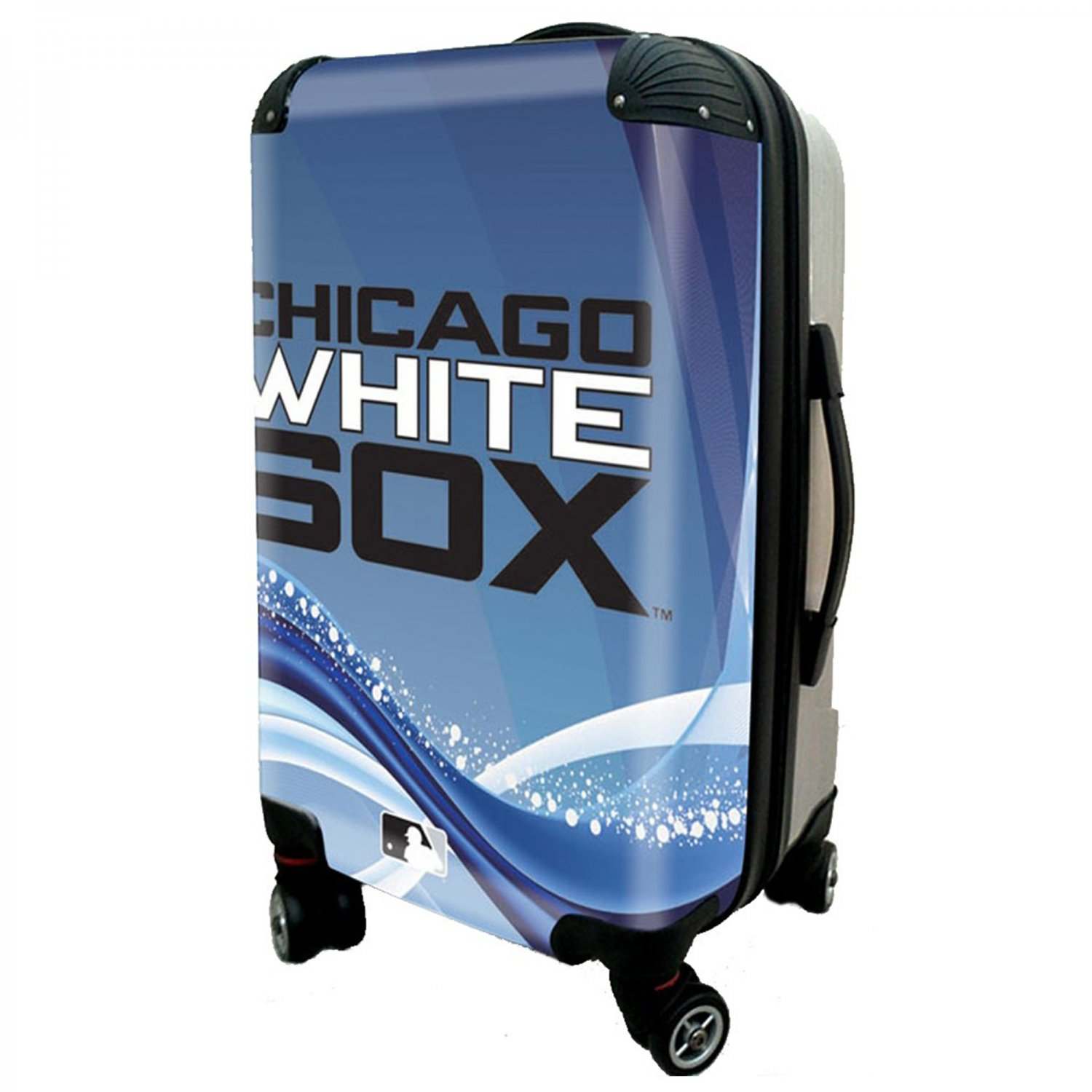 "Chicago White Sox, 21"" Clear Poly Carry-On Luggage by Kaybull #CWS12"