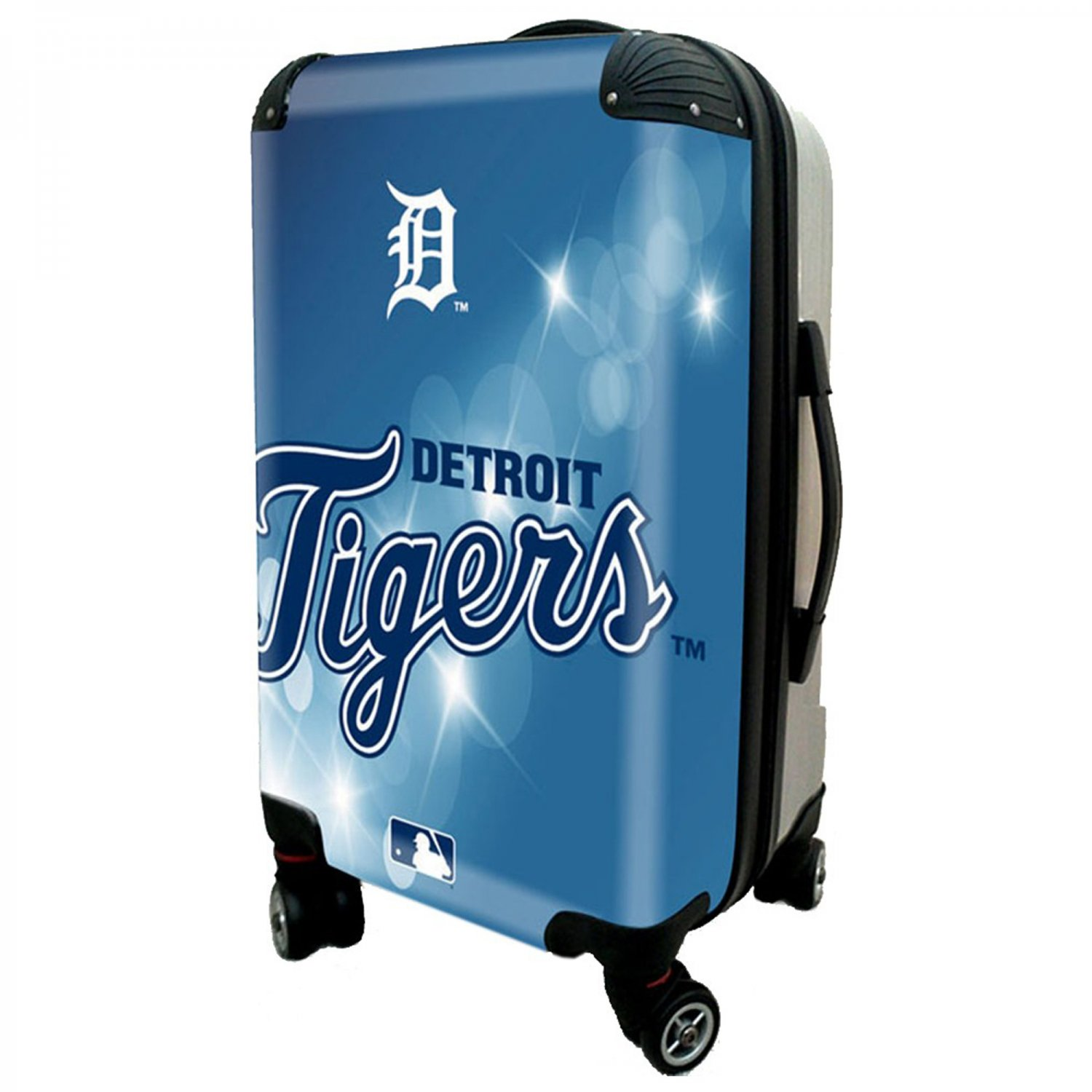 """Detroit Tigers, 21"""" Clear Poly Carry-On Luggage by Kaybull #DET9"""