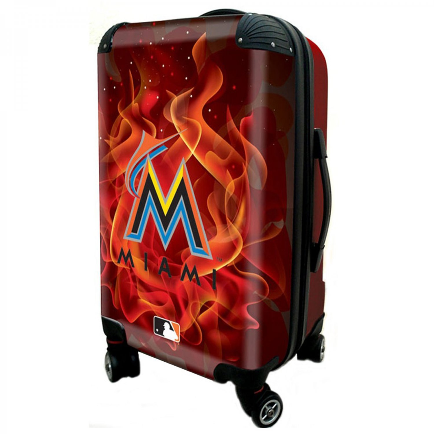 """Miami Marlins, 21"""" Clear Poly Carry-On Luggage by Kaybull #MIA9"""