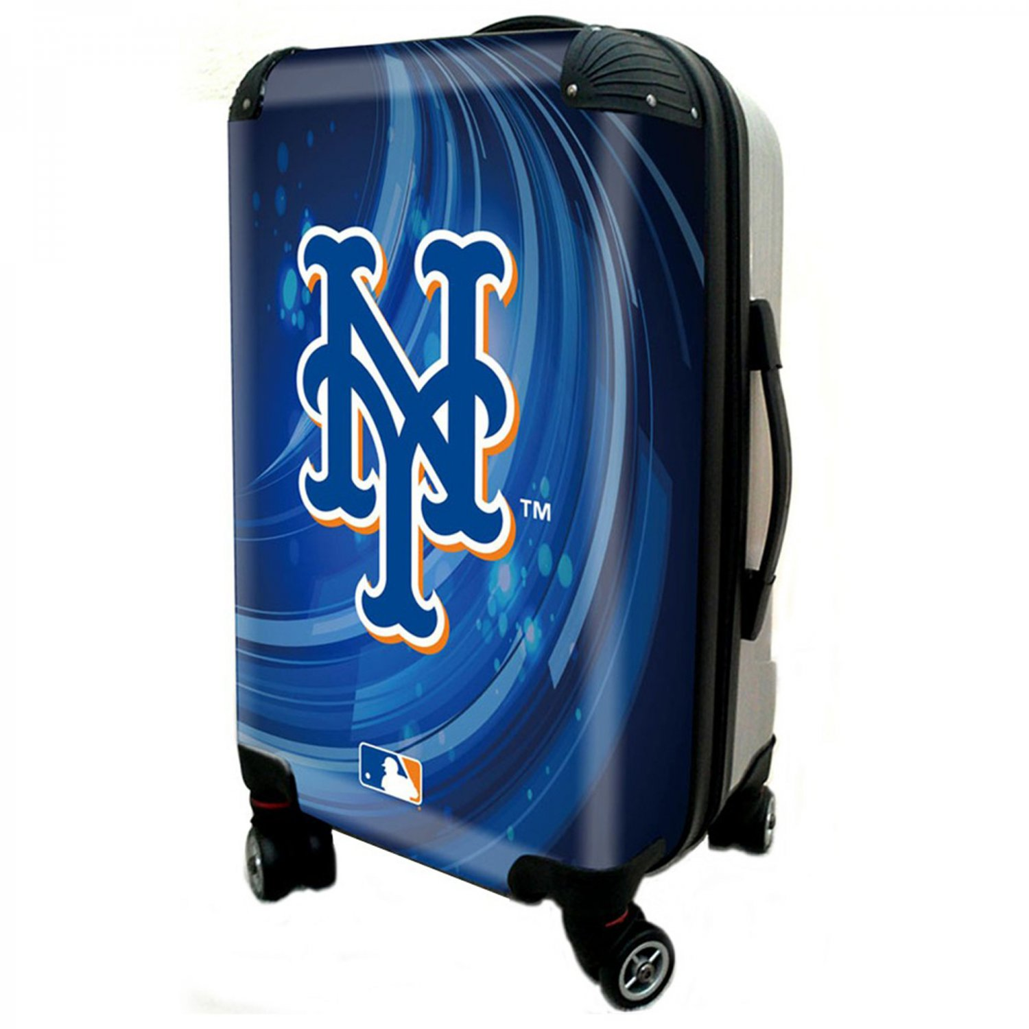 """New York Mets, 21"""" Clear Poly Carry-On Luggage by Kaybull #NYM2"""