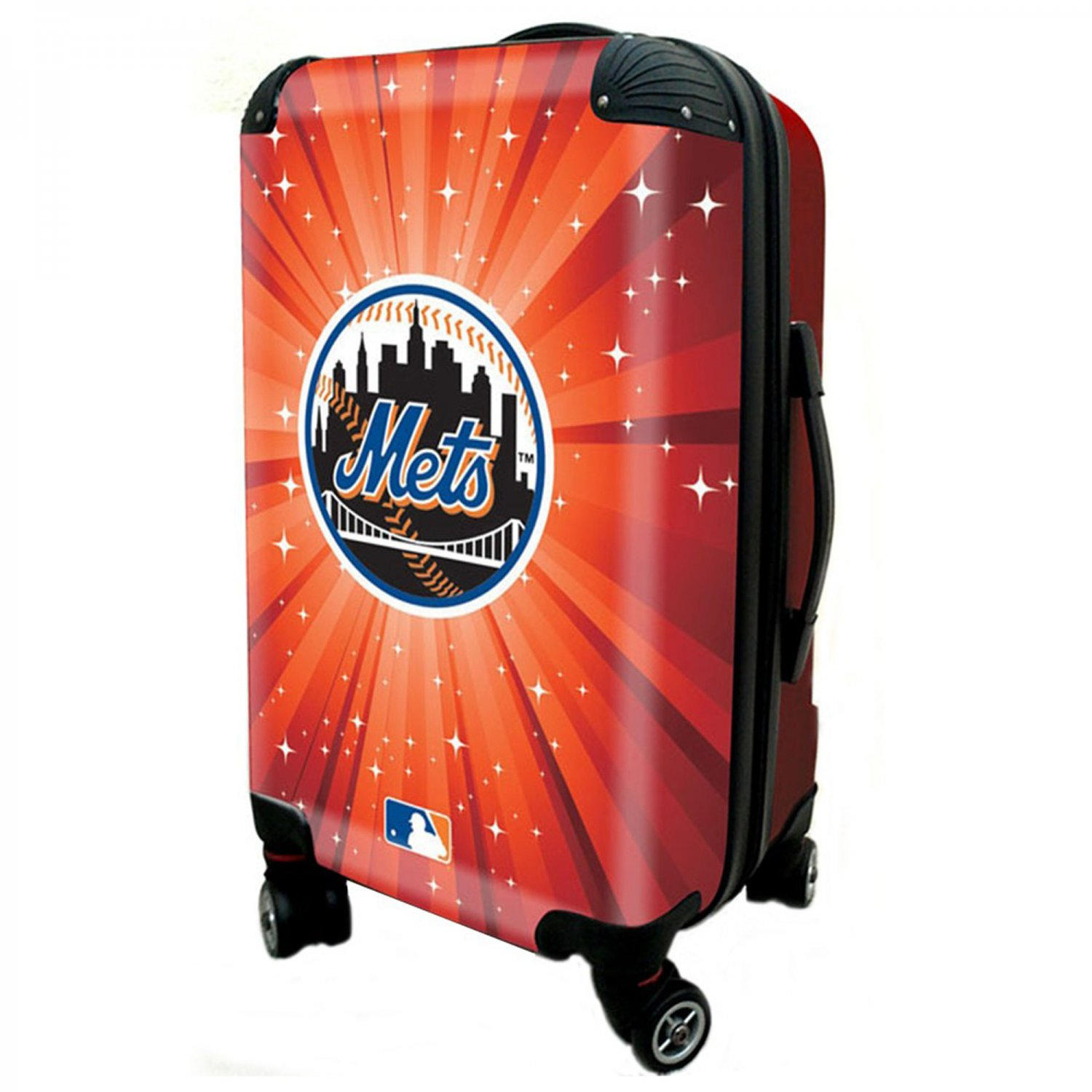 """New York Mets, 21"""" Clear Poly Carry-On Luggage by Kaybull #NYM7"""