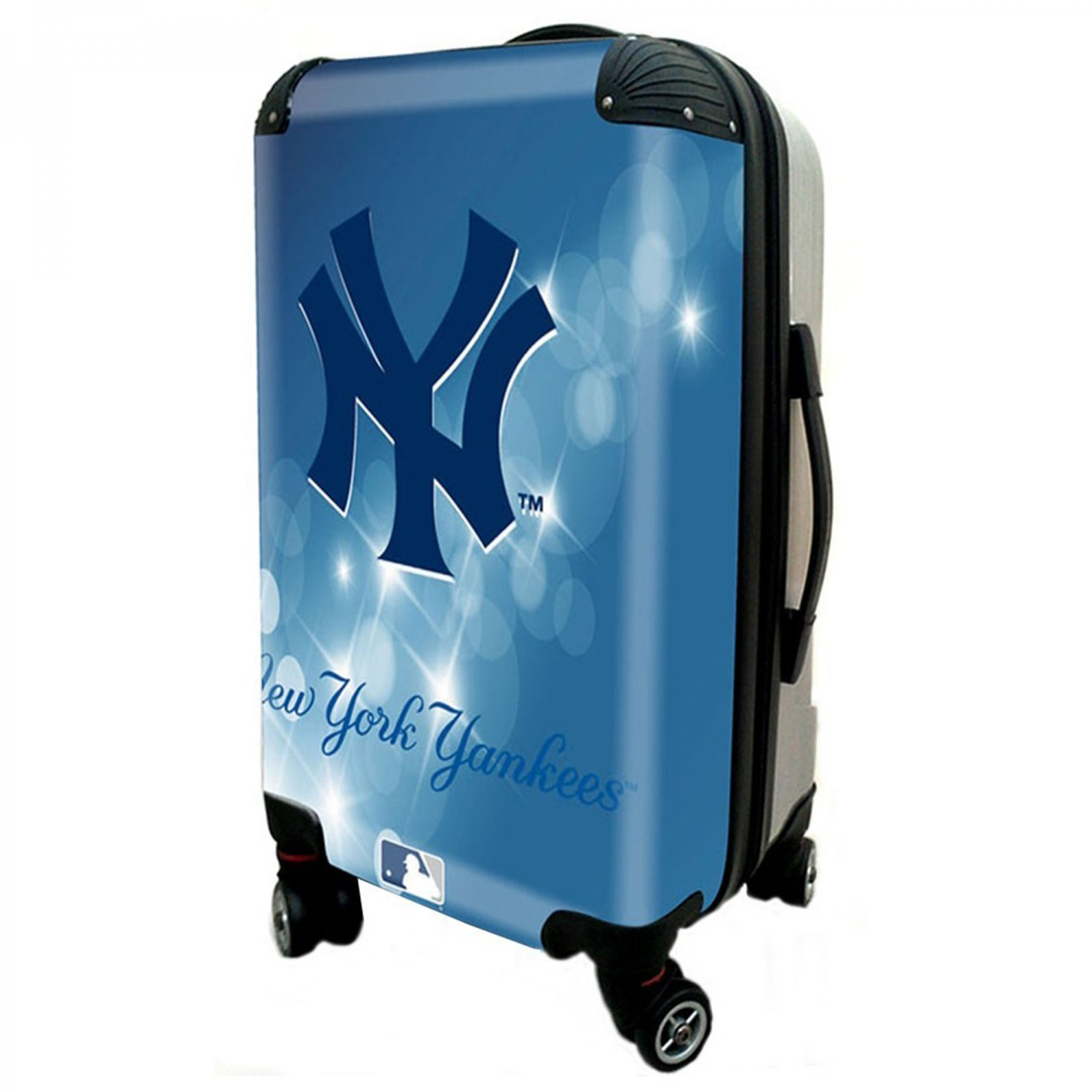 "New York Yankees, 21"" Clear Poly Carry-On Luggage by Kaybull #NYY11"